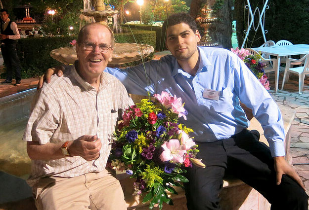 Franklin Lamb with his son, Alistair, in Beirut