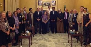 Mussalaha delegation on the Lebanese/Syrian border