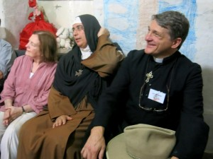 with Mother Agnes and Mairead Maguire in Damascus