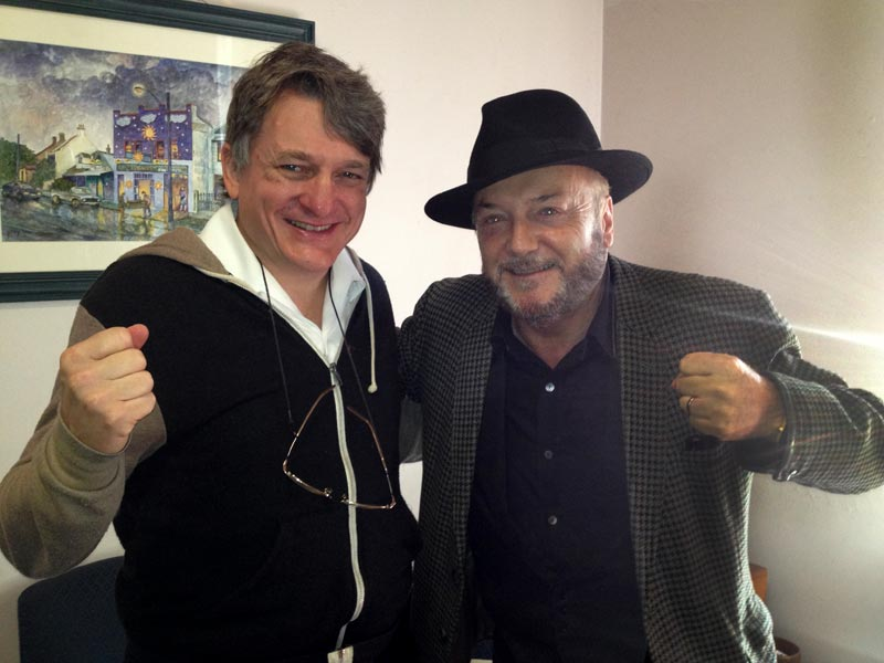 George Galloway and Father Dave - July 2013