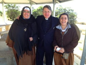 Mother Agnes and Sister Carmel on the way to Canberra