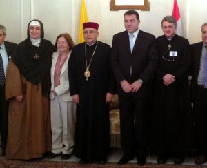 with Archbishop Darwish in Lebanon in April 2013