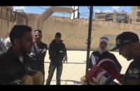 Boxing with the kids of Yarmouk (2)