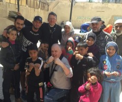 Boxing with the kids of Yarmouk