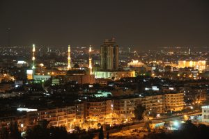 Before the carnage ... Aleppo at night