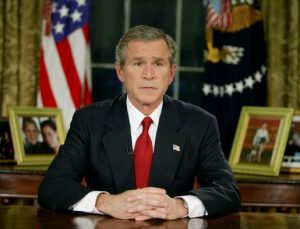 Mission accomplished ... George Bush announces war in Iraw