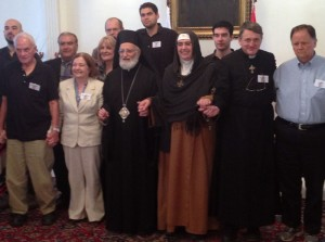 Mother Agnes with the Mussalaha delegation in Beirut