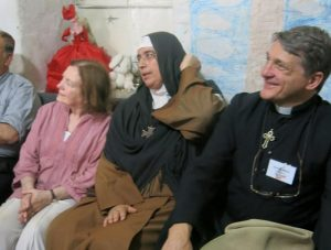 with Mother Agnes and Mairead Maguire in Syria