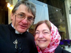 meeting up with Mairead Maguire in Tehran
