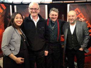 With Gayatri, John and George on Sputnik