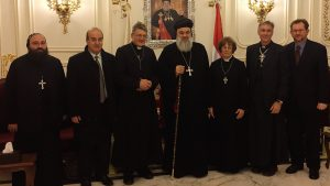 The Australian Anglican Syria delegation with Ignatius Aphrem II of Antioch
